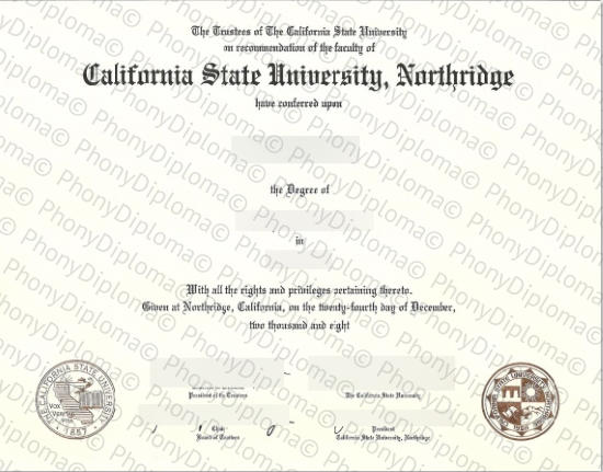 Usa California State University Northridge Free Sample From Phonydiploma