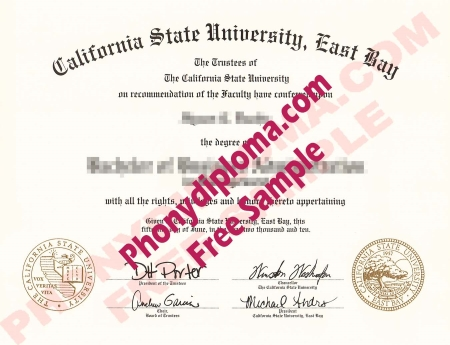 Usa California State University East Bay Free Sample From Phonydiploma