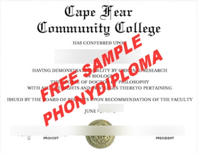 Usa Cape Fear Community College Diploma Free Sample From Phonydiploma