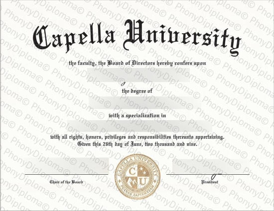 Usa Capella University Fake Diploma From Phonydiploma