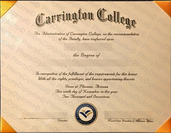 Usa Carrington College California Free Sample From Phonydiploma