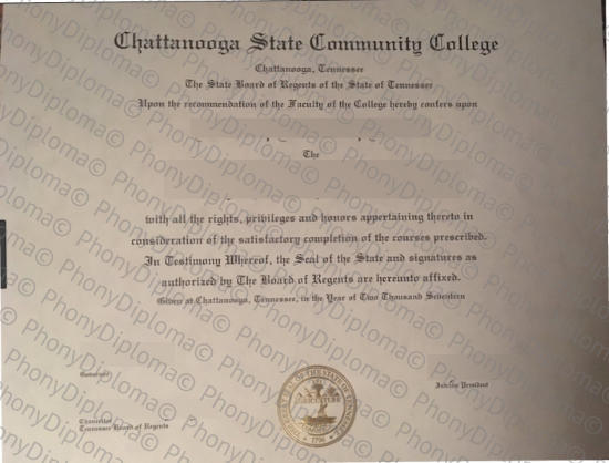 Usa Chattanooga State Community College Free Sample From Phonydiploma