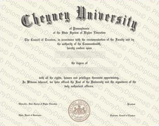 Usa Cheyney University Free Sample From Phonydiploma   Copy