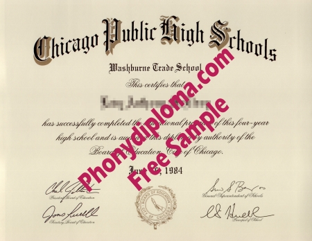 Usa Chicago Public High Schools High School Diploma Free Sample From Phonydiploma
