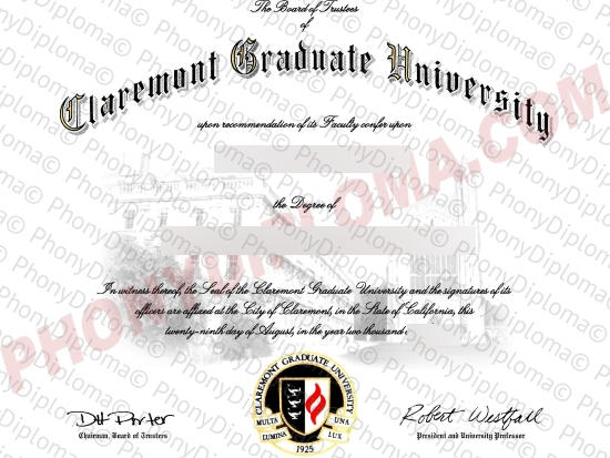 Usa Claremont Graduate University Free Sample From Phonydiploma