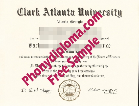 Usa Clark Atlanta University Free Sample From Phonydiploma