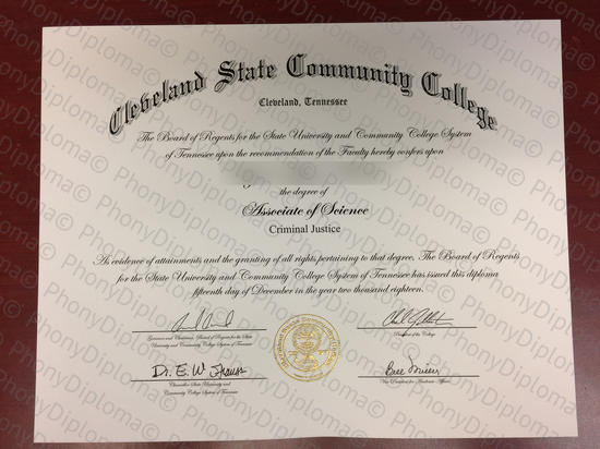 Usa Cleveland State Community College Free Sample From Phonydiploma