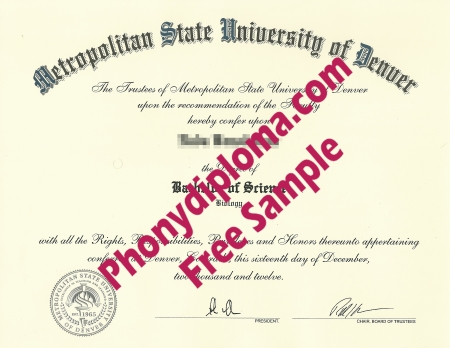 Usa Colorado Metropolitan State University Of Denver 2 Free Sample From Phonydiploma