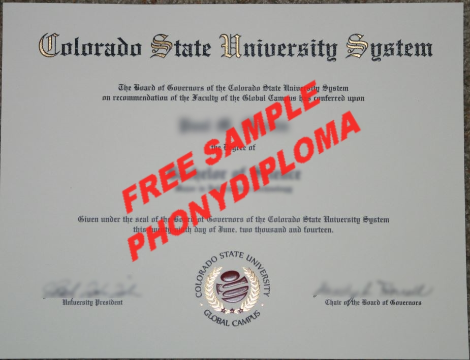 Usa Colorado State University Global Campus Free Sample From Phonydiploma