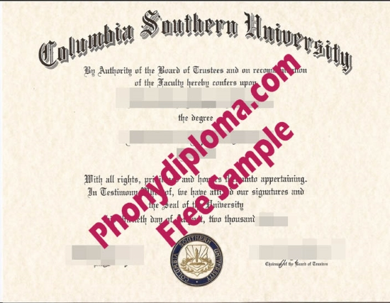 Usa Columbia Southern University Free Sample From Phonydiploma