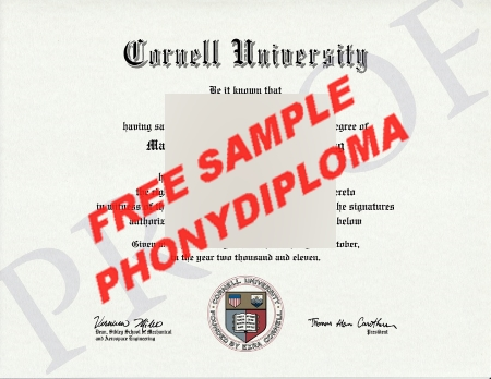 Usa Cornell University Free Sample From Phonydiploma