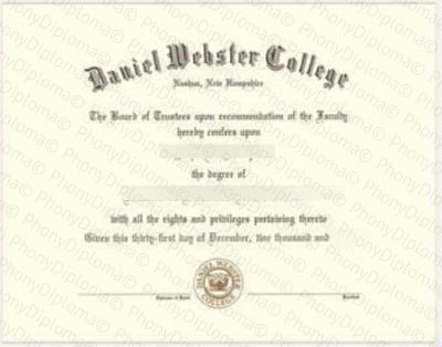 Usa Daniel Webster College Free Sample From Phonydiploma