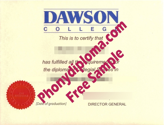 Usa Dawson College Free Sample From Phonydiploma