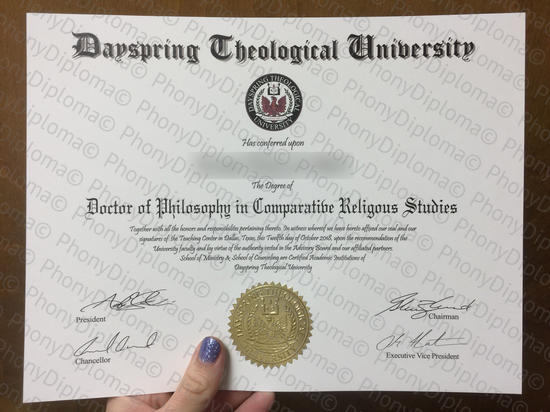 Usa Dayspring Theological University Free Sample From Phonydiploma