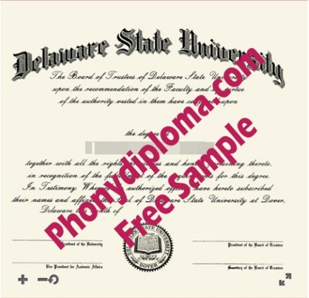 Usa Delaware State University Free Sample From Phonydiploma