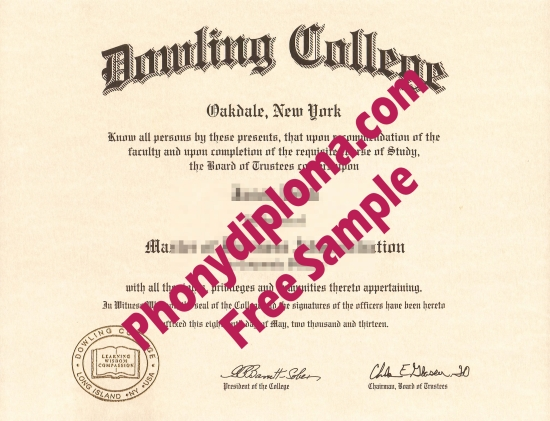 Usa Dowling College Diploma Free Sample From Phonydiploma