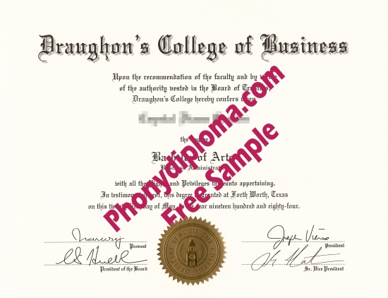 Usa Draughon's College Of Business Free Sample From Phonydiploma