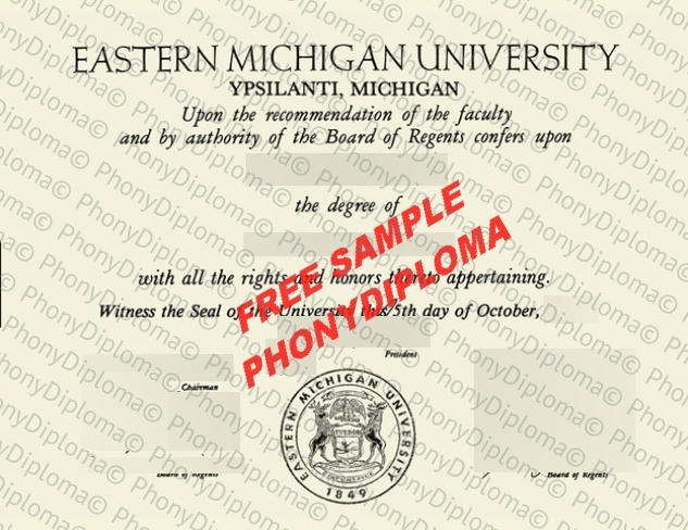 Usa Eastern Michigan University Free Sample From Phonydiploma