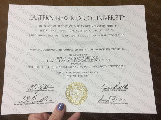 Usa Eastern New Mexico University Free Sample From Phonydiploma