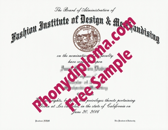 Usa Fashion Institute Of Design & Merchandising Free Sample From Phonydiploma