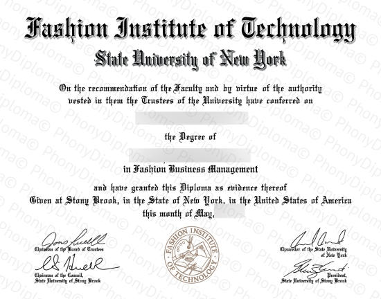 Usa Fashion Institute Of Technology Free Sample From Phonydiploma