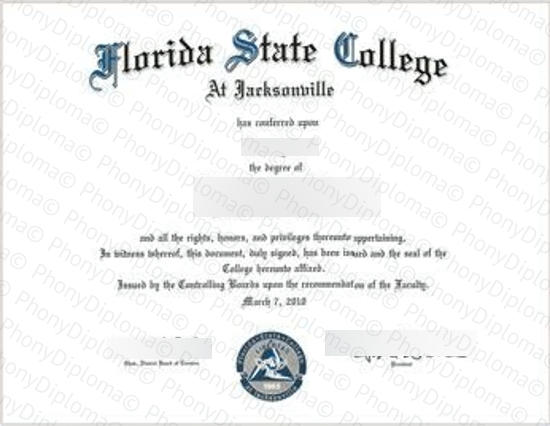 Usa Florida State College At Jacksonville Free Sample From Phonydiploma