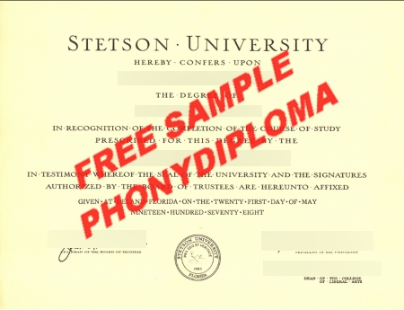 Usa Florida Stetson University Free Sample From Phonydiploma