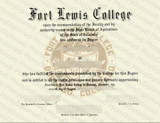 Usa Fort Lewis College Free Sample From Phonydiploma