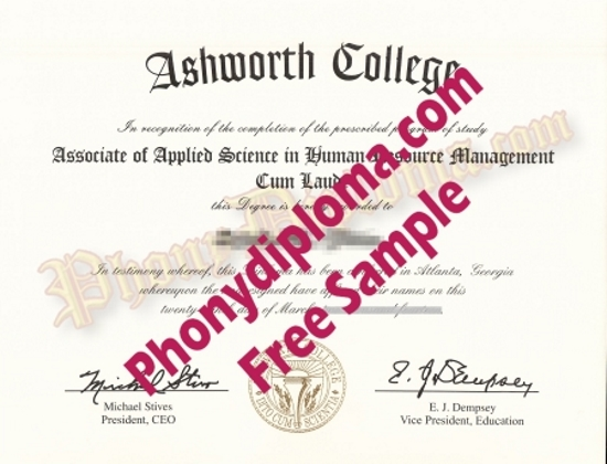 Usa Georgia Ashworth College Free Sample From Phonydiploma