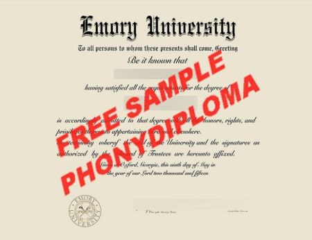 Usa Georgia Emory University Free Sample From Phonydiploma