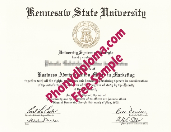 Usa Georgia Kennesaw State University Free Sample From Phonydiploma