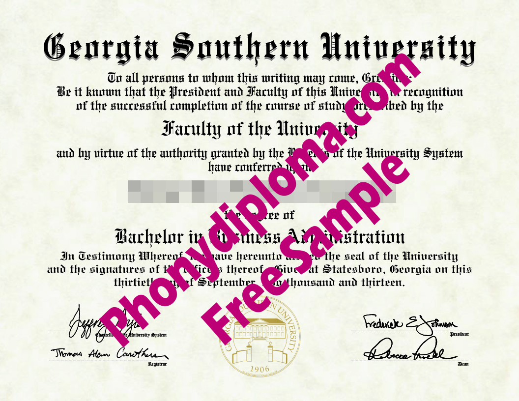 Usa Georgia Southern University Free Sample From Phonydiploma