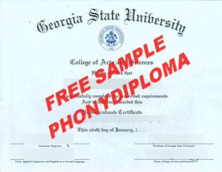 Usa Georgia State University Free Sample From Phonydiploma