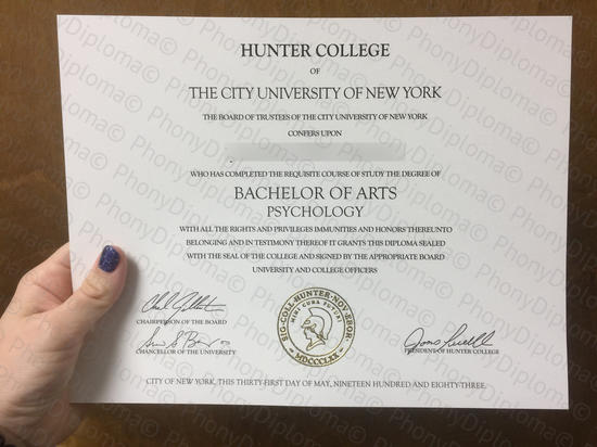 Usa Hunter College Photo Free Sample From Phonydiploma