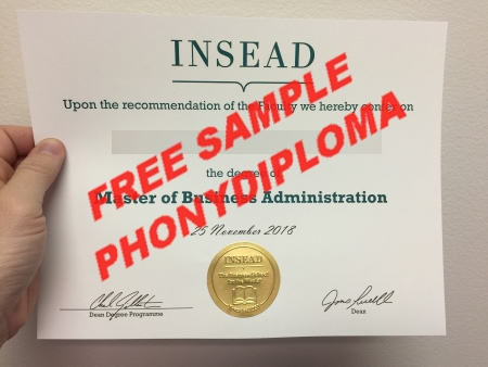 Usa Insead Photo Free Sample From Phonydiploma
