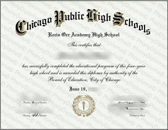 Usa Illinois Chicago Public High Schools Fake Diploma From Phonydiploma