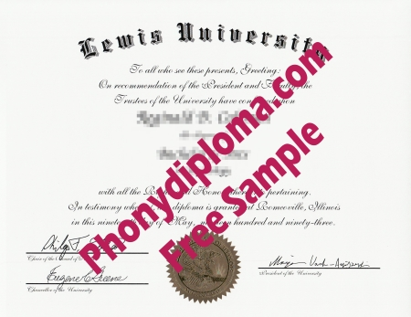 Usa Illinois Lewis University Free Sample From Phonydiploma