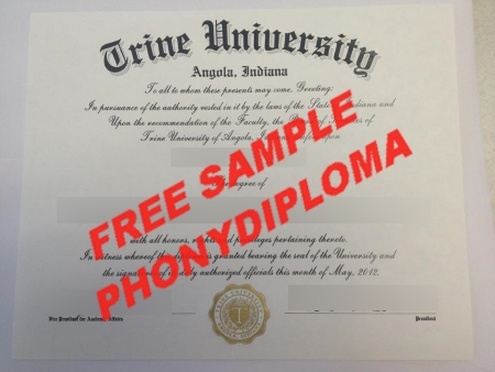 Usa Indiana Trine University Indiana Free Sample From Phonydiploma