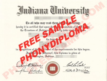 Usa Indiana University Free Sample From Phonydiploma