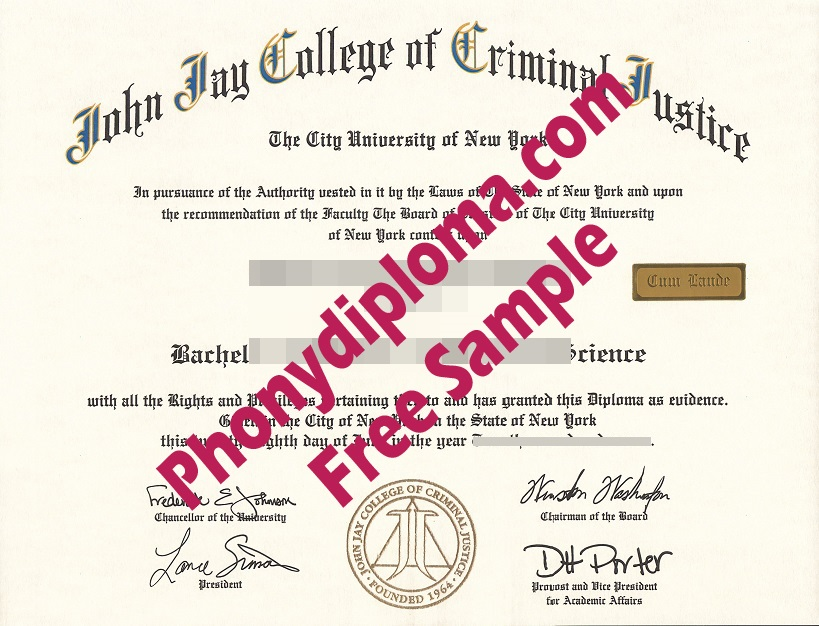 Usa John Jay College Of Criminal Justice Scan Copy