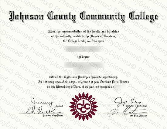 Usa Johnson County Community College Free Sample From Phonydiploma