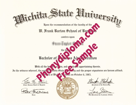 Usa Kansas Wichita State University Free Sample From Phonydiploma