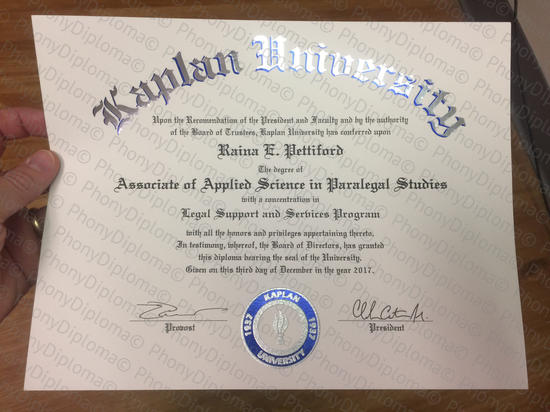 Usa Kaplan University Fake Diploma From Phonydiploma