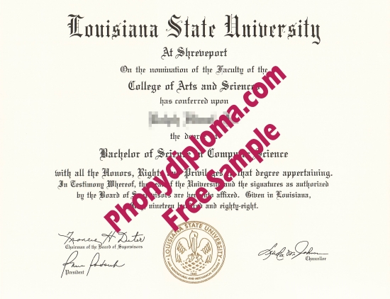 Usa Louisiana State University At Shreveport Free Sample From Phonydiploma