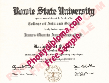 Usa Maryland Bowie State University Free Sample From Phonydiploma