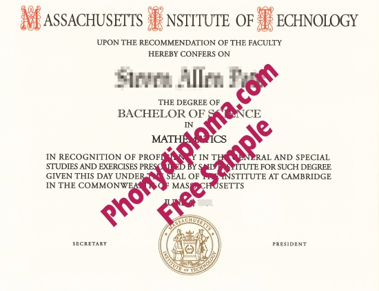 Usa Massachusetts Institute Of Technology Mit Fake Diploma From Phonydiploma