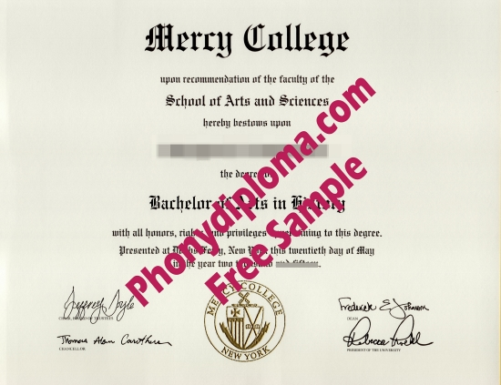 Usa Mercy College Free Sample From Phonydiploma