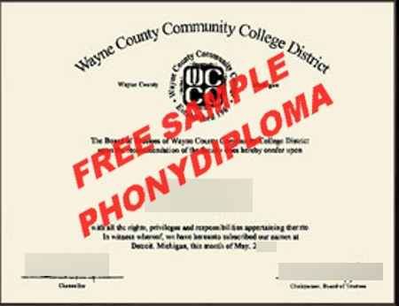 Usa Michigan Wayne County Community College Free Sample From Phonydiploma