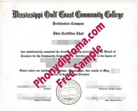 Usa Mississippi Gulf Coast Community College Free Sample From Phonydiploma