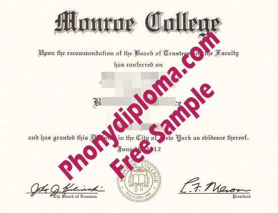 Usa Monroe College Free Sample From Phonydiploma